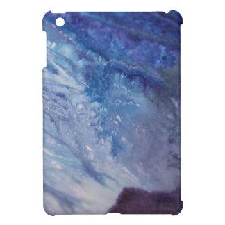 Coques iPad Mini L'eau blanche bleue triste de vague de peinture