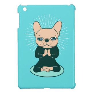 Coques iPad Mini Méditez avec le Frenchie mignon pour rester le zen
