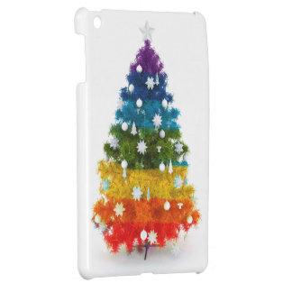 Coques iPad Mini Noël, coloré, couleurs d'arc-en-ciel, arbre