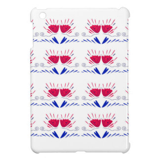 Coques iPad Mini Ornemente TULIPES rouges de tulipes blanches de