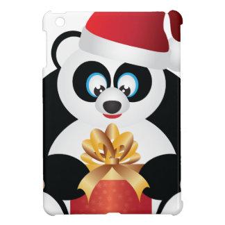 Coques iPad Mini Panda se reposant avec le présent s'ouvrant de