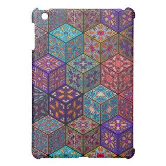 Coques iPad Mini Patchwork vintage avec les éléments floraux de