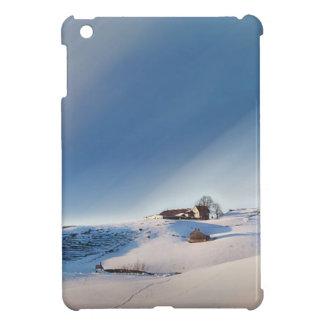 Coques iPad Mini paysage de chute de neige d'hiver