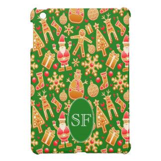 Coques iPad Mini Père Noël de fête et monogramme de pain d'épice de