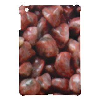 Coques iPad Mini pierres rouges de finition