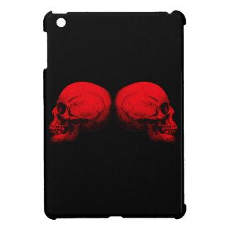 Coques iPad Mini Rouge du crâne X2 de profil