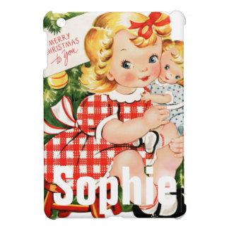 Coques iPad Mini Scène vintage/rétro Personnalised d'enfant de Noël