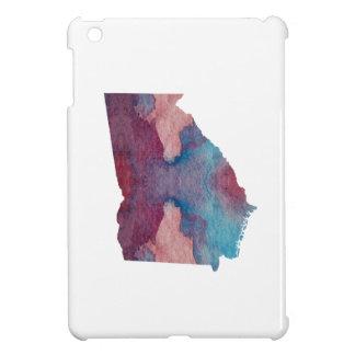 Coques iPad Mini Silhouette colorée de la Géorgie
