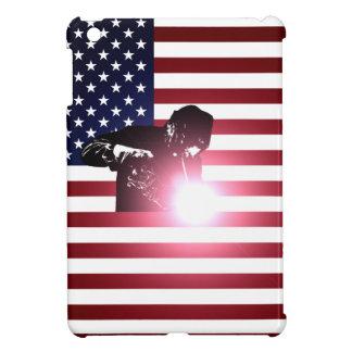 Coques iPad Mini Soudeuse et drapeau américain