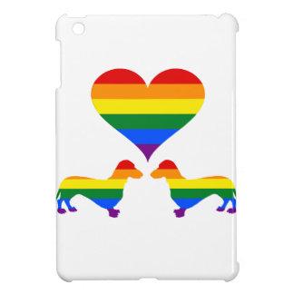 Coques iPad Mini Teckels d'arc-en-ciel