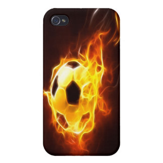 Coques iPhone 4/4S Ballon de football mis à feu