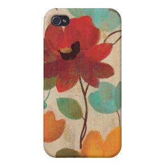 Coques iPhone 4/4S Fleurs et bourgeons colorés