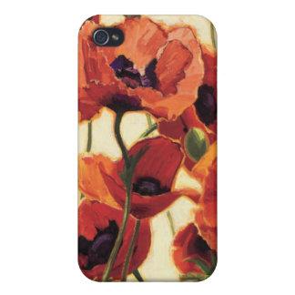 Coques iPhone 4/4S Fleurs rouges