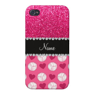 Coques iPhone 4/4S Parties scintillantes roses nommées faites sur