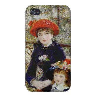 Coques iPhone 4/4S Pierre un Renoir | deux soeurs, ou sur la terrasse