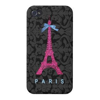 Coques iPhone 4/4S Tour Eiffel de roses indien dans des parties