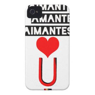 Coques iPhone 4 Aimant à amantes aimantes - Jeux de Mots