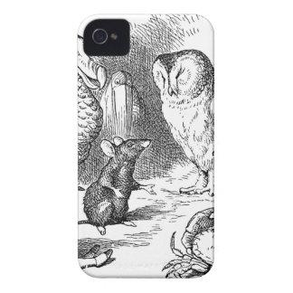 Coques iPhone 4 Alice, souris et oiseaux