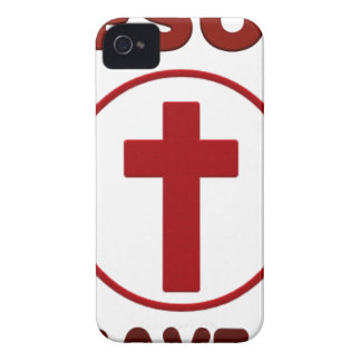 Coques iPhone 4 Amours de Jésus, religion Cross.pn de