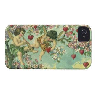 Coques iPhone 4 Arbre victorien vintage de coeur de cupidons de