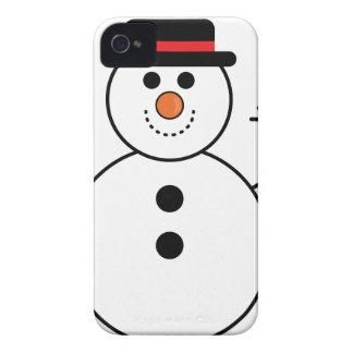 Coques iPhone 4 Bande dessinée de bonhomme de neige