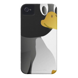Coques iPhone 4 beau heureux de bébé de pingouin de joie animale