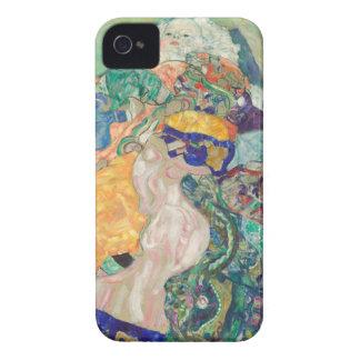 Coques iPhone 4 Berceau de bébé de Gustav Klimt