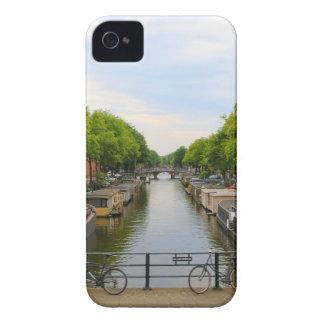 Coques iPhone 4 Canal, ponts, vélos, bateaux, Amsterdam, Hollande