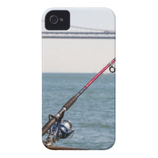Coques iPhone 4 Canne à pêche sur le pilier dans la Baie de San