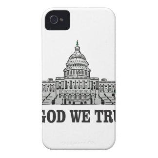 Coques iPhone 4 capital dans un dieu que nous faisons confiance