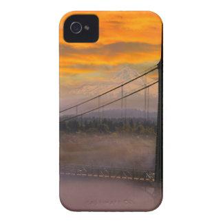Coques iPhone 4 Capot de bâti par le pont de St Johns pendant le