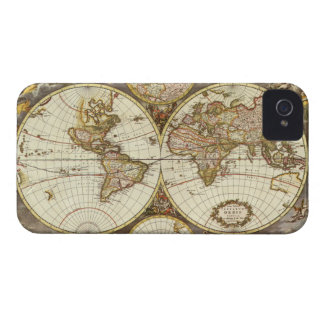 Coques iPhone 4 Carte antique du monde, C. 1680. Par Frederick de