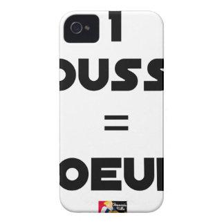Coques iPhone 4 Case-Mate 1 POUSSIN = D'OEUFS - Jeux de mots -Francois Ville