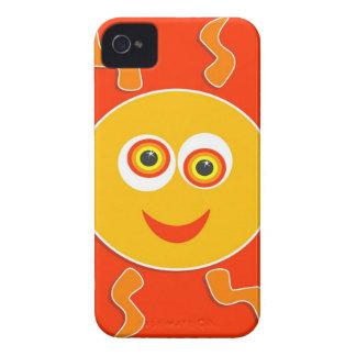 Coques iPhone 4 Case-Mate Bande dessinée heureuse de Sun