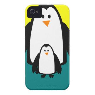 Coques iPhone 4 Case-Mate beau heureux de bébé de pingouin de joie animale