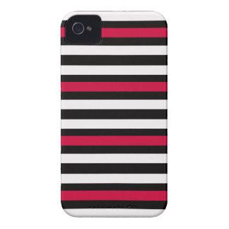 Coques iPhone 4 Case-Mate Blanc rouge de rayure noire