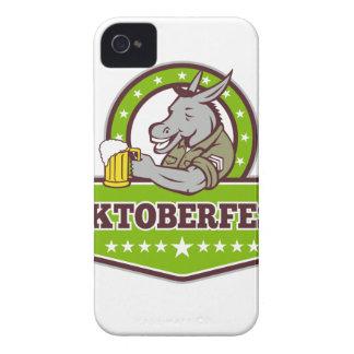 Coques iPhone 4 Case-Mate Buveur de bière d'âne Oktoberfest rétro