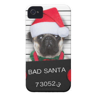 Coques iPhone 4 Case-Mate Carlin de Noël - chien de photo - carlin de père