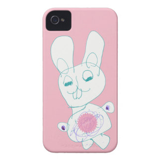 Coques iPhone 4 Case-Mate Cas doux de téléphone de lapin