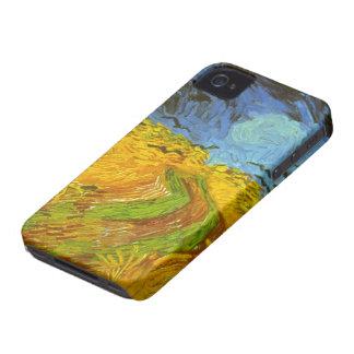 Coques iPhone 4 Case-Mate Champ de blé de Van Gogh avec des corneilles,