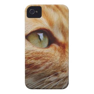 Coques iPhone 4 Case-Mate Chat blanc orange