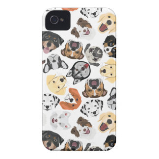 Coques iPhone 4 Case-Mate Chiens de motif d'illustration