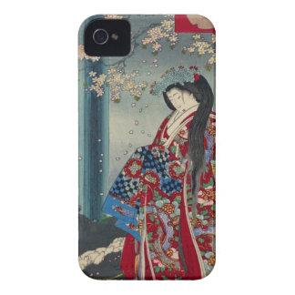 Coques iPhone 4 Case-Mate Classique japonais de cool d'art de Madame Japon