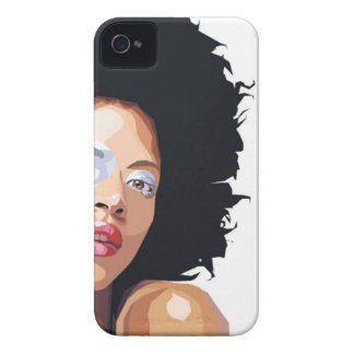 Coques iPhone 4 Case-Mate compagnon Afro-central de caisse de Blackberry