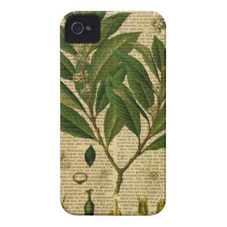 Coques iPhone 4 Case-Mate Copie botanique à la page de vieux livre