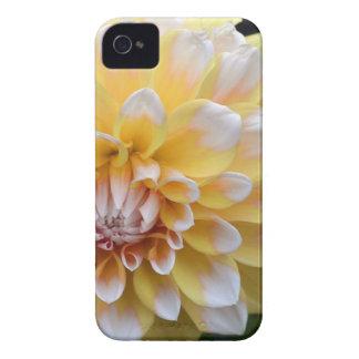 Coques iPhone 4 Case-Mate Dahlia jaune et blanc