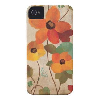 Coques iPhone 4 Case-Mate Fleurs colorées sur un arrière - plan blanc