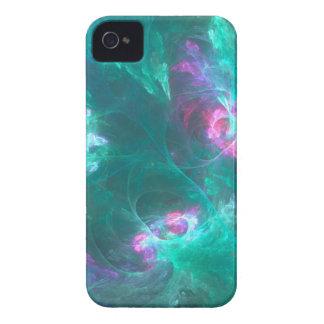 Coques iPhone 4 Case-Mate Fractale abstraite dans une palette froide