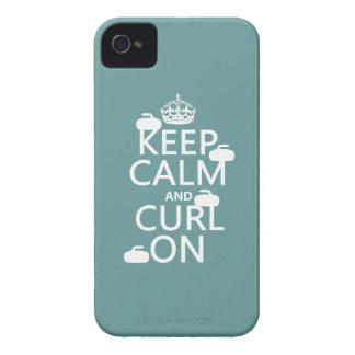 Coques iPhone 4 Case-Mate Gardez le calme et courbez-vous sur (toute