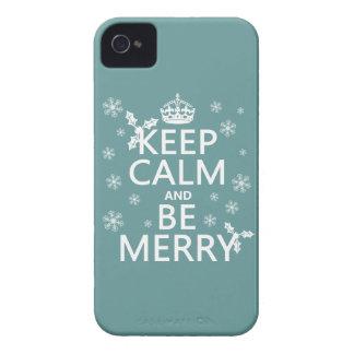 Coques iPhone 4 Case-Mate Gardez le calme et soyez joyeux - toutes les